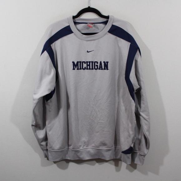 1822704f4a0ac Nike Therma Michigan Wolverines Crewneck Sweater